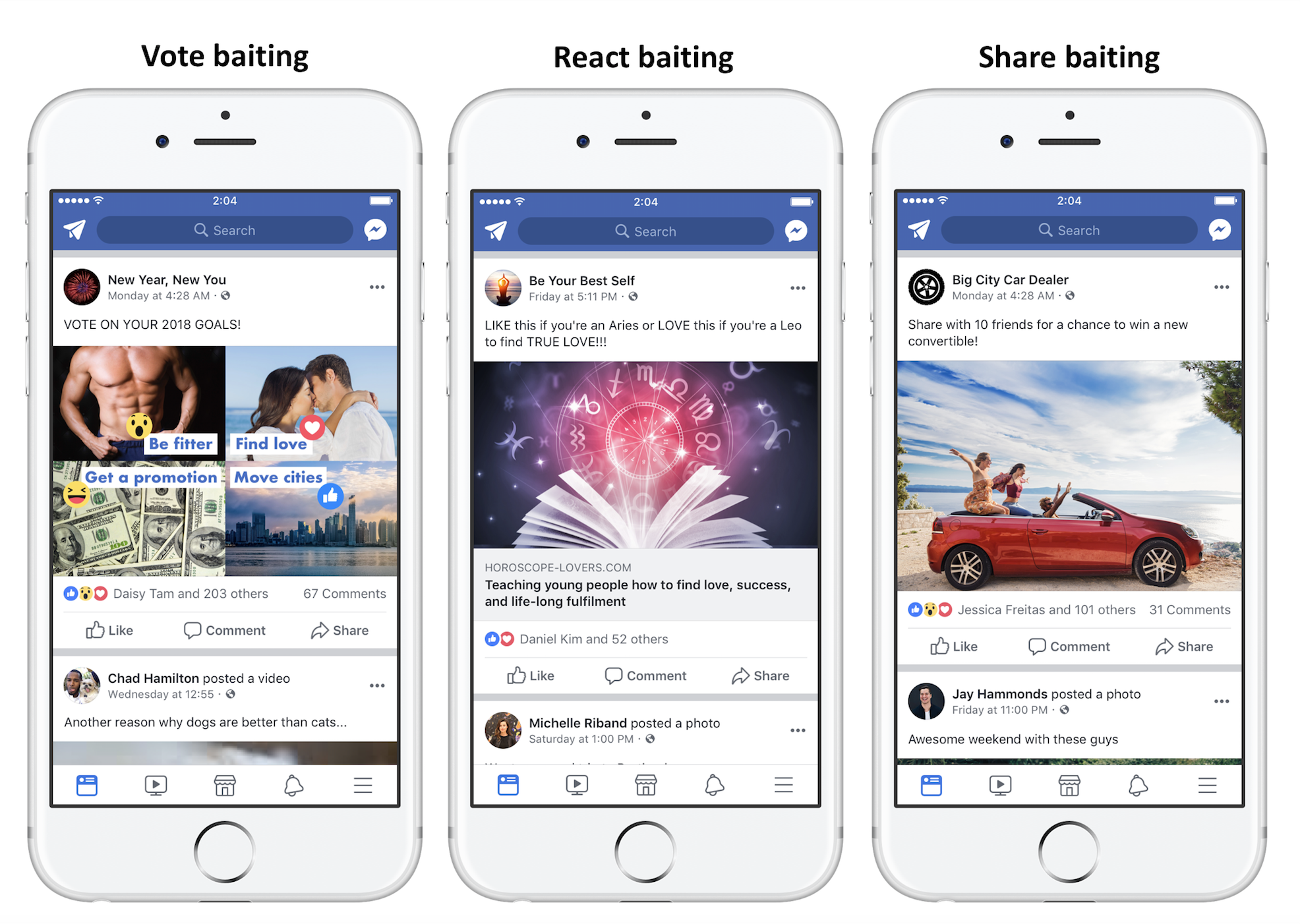 Facebook va sanctionner les publications puis les pages — Engagement bait